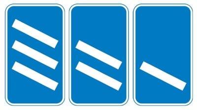 Motorway countdown signs